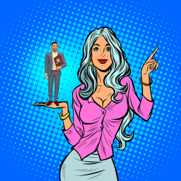 BotCake Woman Holding New Avatar - Gray Hair